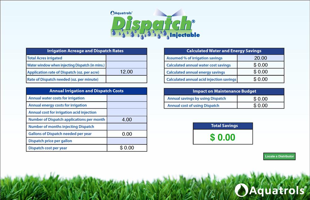 Dispatch Calculator