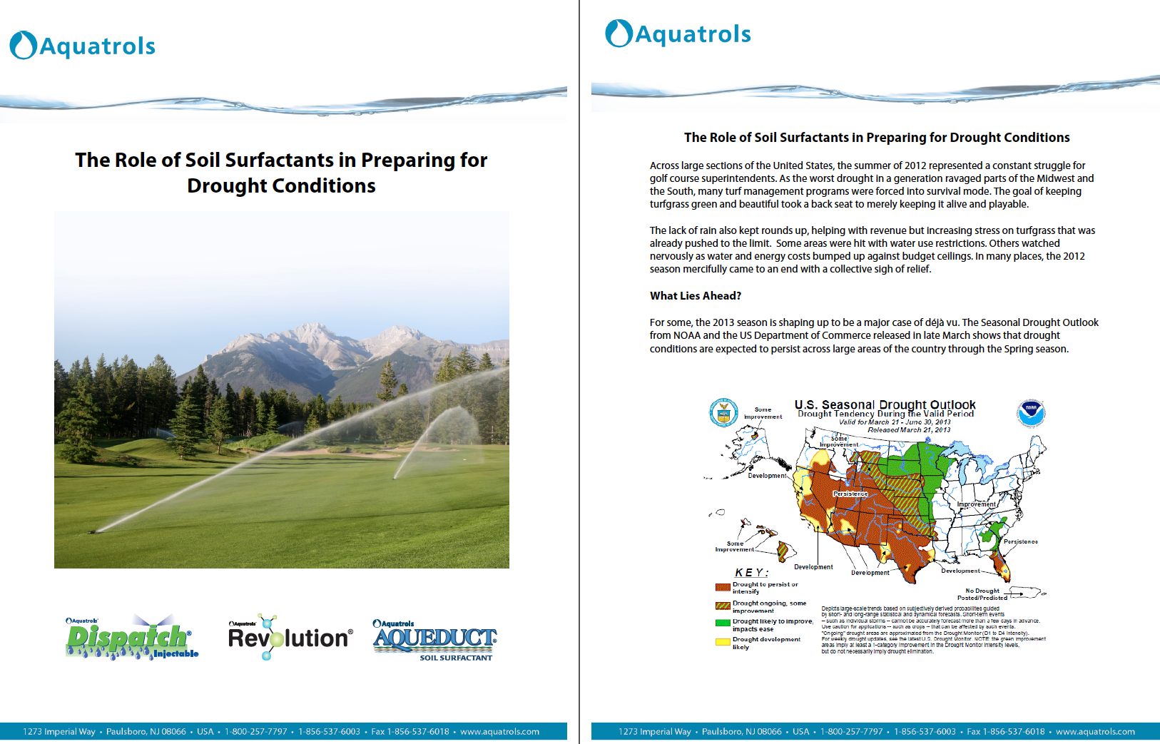 White Paper: The Role of Soil Surfactants in Preparing for Drought Conditions