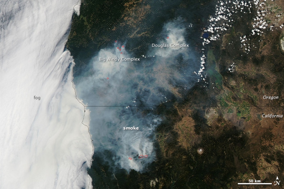 NASA Wildfire Image