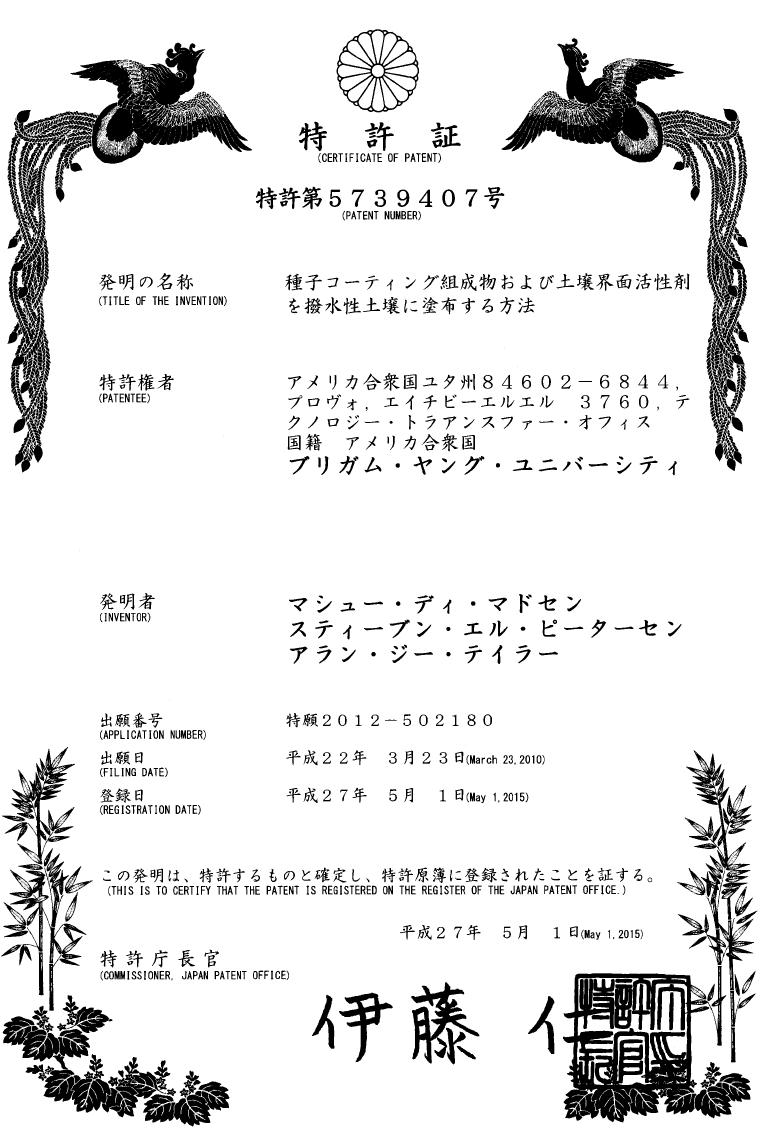 Japan Patent - SET
